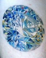 Beautiful realistic diamond tattoo.. this is amazing