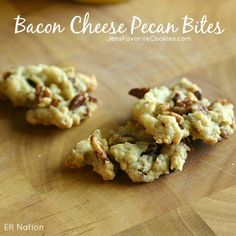 Bacon Cheese Pecan Bites