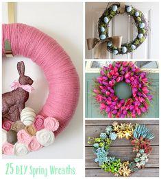 25 DIY Spring Wreaths