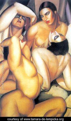 Classic Lempicka picture. Group of Four Nudes, c.1925 - Tamara de Lempicka. tamara lempicka, nude, de quatr, tamara de lempicka, paint, artist, erot art, group, art deco