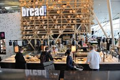 Bread counter at Schipol Airport, Amsterdam