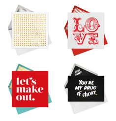 The best collection of Valentine's ecards from designers like Kate Spade and Jonathan Adler. It's not too late to send!
