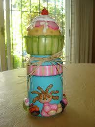 frascos decorados con porcelana fria - Buscar con Google