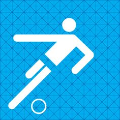 MUNICH 1972 Pictogram grid and pictogram for football. Designed by Otl Aicher