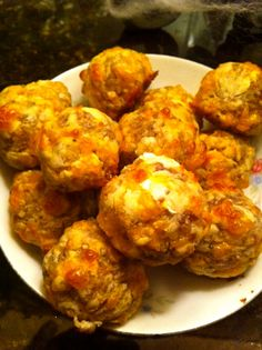Sausage balls with Bisquick and cream cheese