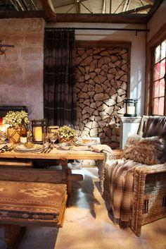 ralph lauren, idea, fireplac, cozy homes, wood storage
