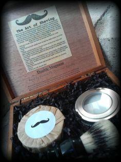 Awesome Groomsmen Gifts...Men's Cigar Box Shaving Kit  CHOOSE YOUR by blissfulbathandbody, $34.95