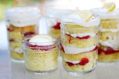 Lemon Strawberry Cake in a Jar