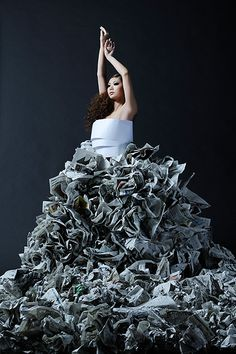 Recycled Art // Fashion gown #paperart