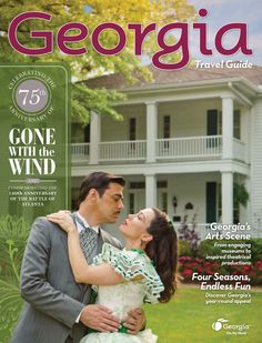 The 2014 Georgia Travel Guide features Scarlett O'Hara & Rhett Butler! Click this pin to order your FREE copy.