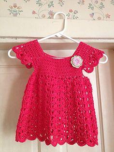 Crochet Angel pop-over dress, http://crochetjewel.com/?p=10650
