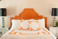 Introducing Key bedding by designer Jill Sorenson and the team at LiveLikeYou. The duvet covers and shams come in vibrant colors ~ orange, navy and turquoise!