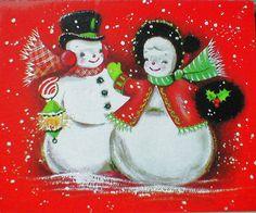 Snowman Love  So Happy......this snowman pair!