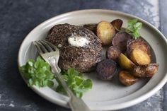 Buttered Black Pepper Bison Steaks