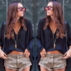 How to Chic: SUMMER OUTFIT - CROSSED BLOUSE