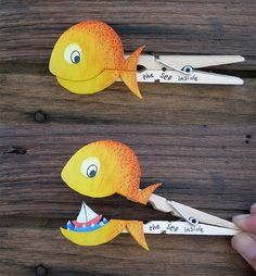 This would make a cute Jonah and the big fish craft