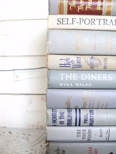 Shades of Gray Books Instant Library Book Collection by Color Bundle Vintage Decorative Books Photography Props Grey French Country.