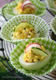Vegetable-loaded Deviled Eggs