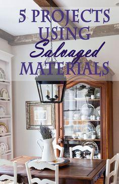 5 Ways to Use Salvaged Items in a Home www.cedarhillfarmhouse.com #salvage #interiordesign