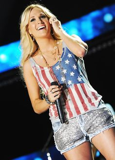 Carrie Underwood makes America sparkle in 2012.