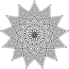 star mandale, pattern, kids coloring pages