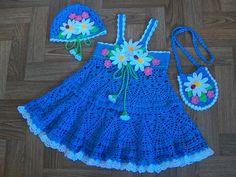 Crochet hat and dress crochet babi, sundress, pattern, crochet baby hats, crochet hats, crocheted hats, crochet child's dresses, knit, crochet crafts