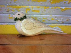 Primitive Christmas Dove Lauren by Rabbithollowprims on Etsy, $16.95