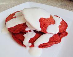 red velvet pancakes. red velvet anything