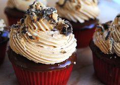 Tagalong Chocolate Peanut Butter Cupcakes