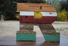 Reclaimed Wood Letter