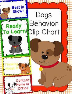 Behavior Clip Chart - Behavior Management - Dogs, $