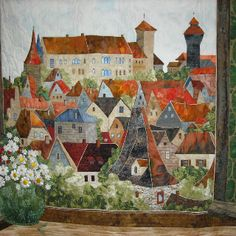 Nuernberg Germany- quilt designed and entirely handmade by Quilt Artist Anne Francis