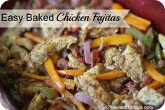 Easy Baked Chicken Fajitas.  Advocare 24 Day Challenge & Low Carb #AdvoCare #lowcarb #recipe