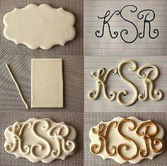 Letters huwelijk taart fondant of marsepein / Letters...wedding cake! Www.hierishetfeest.com