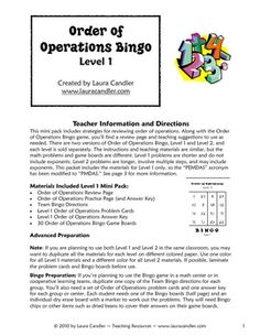 Unit 5: Properties, Order of Operations on Pinterest | Order Of Opera ...