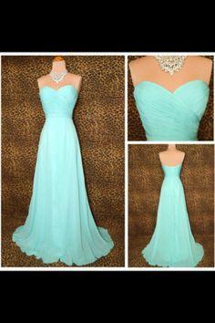 Pretty aqua dress