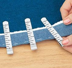 Hem Clips with built in measuring