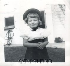 Original Photo Q 9572 Little Girl with Eyes Closed