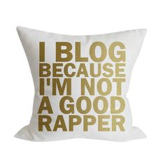 I love this pillow -