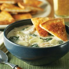 spinach-artichoke soup yes.
