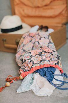 DIY travel laundry bag.