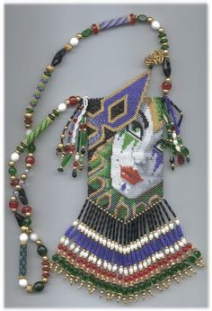 beaded bags | Beaded Amulet Bag Pattern - Mardi Gras