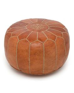 Beautiful leather pouf, just like at the Parker.