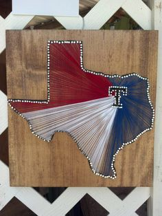 RED WHITE AND BLUE TEXAS String art