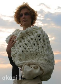 Lovely hand-knit Haute Couture Shrug from Okapi Knits