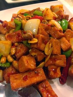 Fast Vegetarian Meals and Recipes: Vegetarian Kung Pao chicken with ...