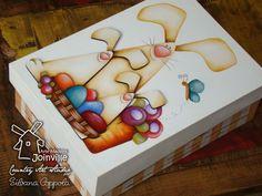 Arte Madeira Joinville: Caixa p/ bombons - Família Coelho