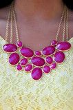 Beauty In Everything Necklace: Raspberry