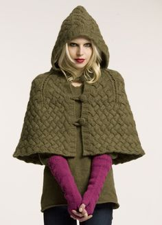 Knitting Pattern Cape With Hood : Loom Knitting on Pinterest Loom Knit, Knitting and Wrist Warmers