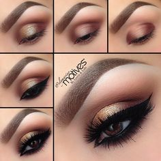 .@elymarino | Quick Step by step Pictorial for you lovely ladies from my last look☺️ This w... | Webstagram~ Brown Eyes Makeup Look
